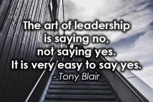 art of leadership saying no