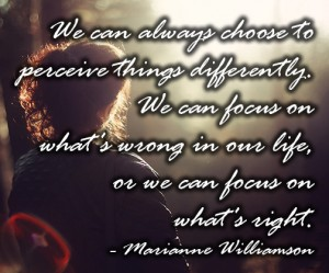 marianne williamson choose to perceive