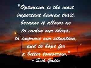 optimism most important human trait