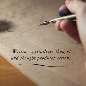 Writing crystalizes thought