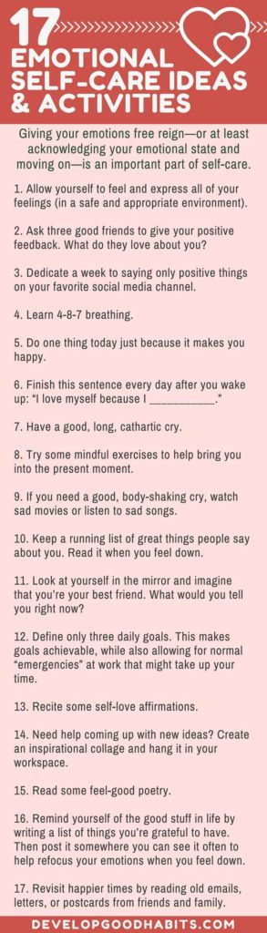 Emotional Self-Care Ideas