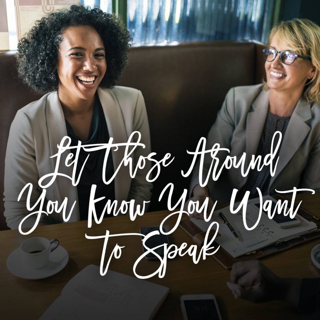 So You Want To Speak