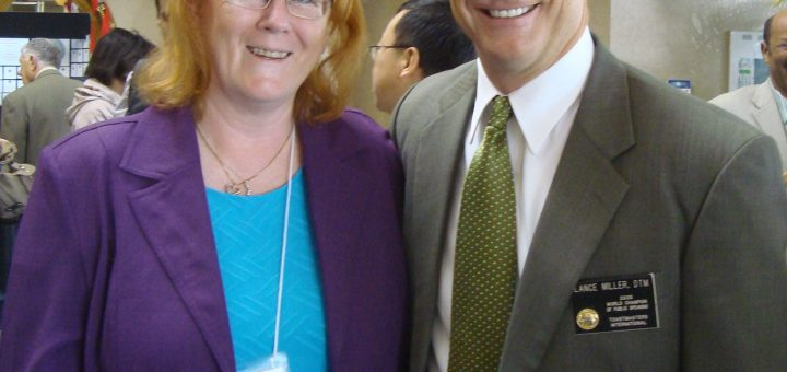 Meeting Lance Miller at Toastmasters Conference